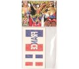 Arch Tetovací obtisky na obličej i tělo Francie vlajka 3 motivy