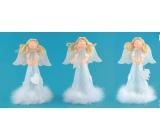 Anděl na postavení v sukni s peřím 18 cm