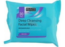 Beauty Formulas Odličovací ubrousky pro hloubkové čištění 30 kusů