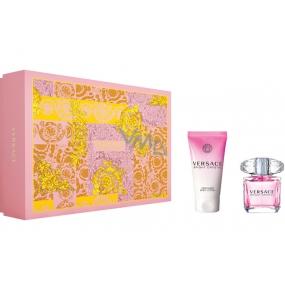 Versace Bright Crystal toaletná voda pre ženy 30 ml + telové mlieko 50 ml, darčeková sada
