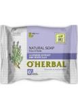 O Herbal Natural Levanduľa a biela hlina prírodné toaletné mydlo 100 g