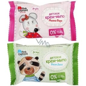 DÁREK Pink Elephant Mýval Daniel nebo Myška Mia mýdlo pro děti 90 g