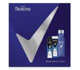Rexona Men Cobalt 2v1 sprchový gél a šampón pre mužov 250 ml + dezodorant sprej pre mužov 150 ml + fľaša na vodu, kozmetická sada
