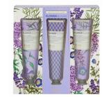 Heathcote & Ivory Flower Blooms Lavender Garden vyživujúci krém na ruky a nechty 3 x 30 ml, kozmetická sada