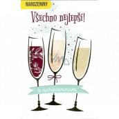 Nekupto Prianie k narodeninám Šampanské 115 x 170 mm 3461 F