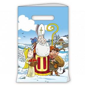 Anjel Darčeková papierová taška 18 x 32 cm biela Mikuláš, čert, anjel