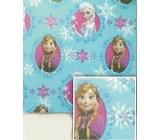 Nekupto Baliaci papier vianočné pre deti Ľadové kráľovstvo modrý 2 x 0,7 m