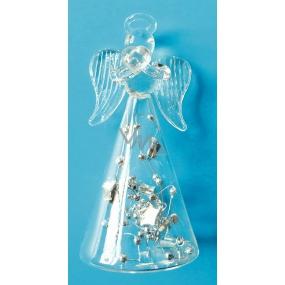 Anjel sklenený na postavenie 9 cm