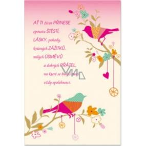 Ditipo Prianie k narodeninám glitr Nech Ti život prinesie veľa šťastie 120 x 180 mm