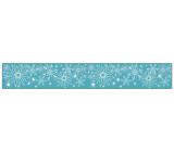 Samolepka zimní na cívce 7,6 x 200 cm zimní květ, č.1