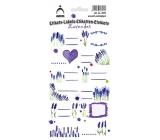Arch Samolepky do domácnosti dekorační etikety Levandule 3571 12 etiket