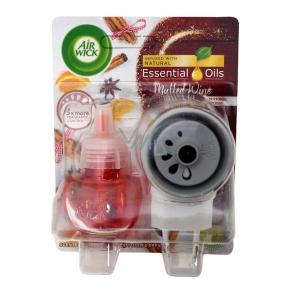 Air Wick Essential Oils Mulled Wine - Svařené víno elektrický osvěžovač vzduchu komplet 19 ml