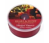 Heart & Home Hrejivé Vianoce Sójová vonná sviečka v mištičke horí až 12 hodín 36 g