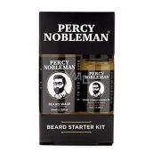 Percy Nobleman Šampón na fúzy 30 ml + vyživujúci olejový kondicionér na fúzy s vôňou Percy Nobleman 10 ml, kozmetická sada pre mužov, starostlivosť o fúzy a fúzy