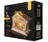 Emos Dekorácie betlehem na postavenie 18 x 16,5 cm, 4 LED, teplá biela + časovač
