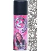Zo Cool Glitter Sprej glitre na vlasy a telo Silver 125 ml