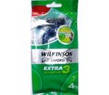 Wilkinson Extra 3 Sensitive holiaci strojček jednorazový 3 čepieľky 4 kusy
