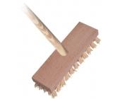 Spokar Kartáč podlahový s holí, dřevěné těleso, syntetická vlákna, hůl 140 cm