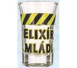 Nekupto Smích panák skleněný humorný WG 006 Elixír mládí 0,04 l