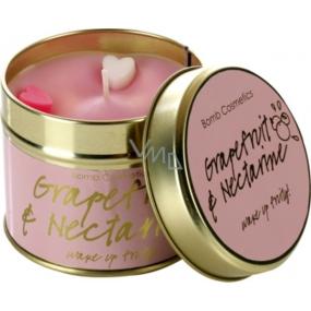 Bomb Cosmetics Grep a nektarinka Vonná prírodné, ručne vyrobená sviečka v plechovej dóze horí až 35 hodín