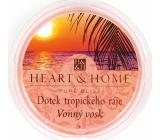 Heart & Home Dotyk tropického raja Sójový prírodný voňavý vosk 27 g