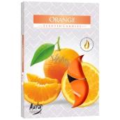 BISPOL Aura Orange - Pomaranč vonné čajové sviečky 6 kusov