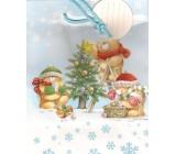 Albi Dárková papírová taška střední 23 x 18 x 10 cm Vánoční TM4 85246