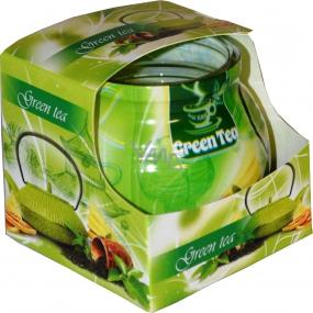Admit Green Tea - Zelený čaj dekorativní aromatická svíčka ve skle 80 g