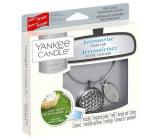 Yankee Candle Clean Cotton - Čistá bavlna základní set kovové stříbrné visačky do auta Charming Scents set Geometric 13 x 15 cm, 90 g