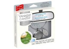 Yankee Candle Clean Cotton - Čistá bavlna základné vône do auta kovová strieborná visačka Charming Scents set Geometric 13 x 15 cm, 90 g