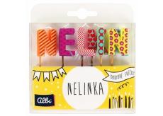 Albi Tortové sviečky meno - Nelinka, 2,5 cm
