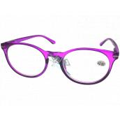 Berkeley Čítacie dioptrické okuliare +2,5 plast fialovej, okrúhle sklá 1 kus MC2171