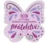 Albi Závesná plaketka motýlik Priateľstvo 9 x 10 cm