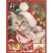 Nekupto Darčeková papierová taška strednej 23 x 18 x 10 cm Vianočný 1211 30 WBM