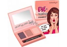 Misslyn Eye-mazing Eyeshadow Set paletka očních stínů 20 Oh Boy Im Your Hero! 3 x 0,7 g