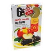 Tea Lights Apple Vanilla s vôňou jablka a vanilky vonné čajové sviečky 6 kusov