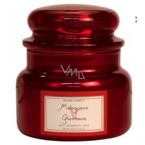 Village Candle Osviežujúci granátové jablko - Melograno Glassare vonná sviečka v skle 2 knôty 262 g