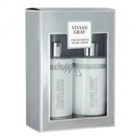 Vivian Gray Crystal White luxusné hydratačné tekuté mydlo 250 ml + mlieko na ruky 250 ml, kozmetická sada