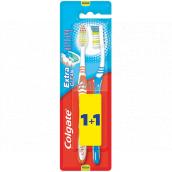 Colgate Extra Clean Medium strednej zubná kefka 1 + 1 kus
