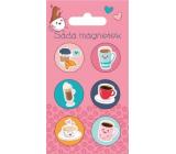Albi Sada magnetov Kafe 6 kusov