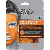 Loreal Paris Men Expert Hydra Energy hydratujúce a energizujúci pleťová maska pre mužov 30 g