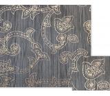 Nekupto Darčekový baliaci papier 70 x 150 cm Tmavomodrý s ornamentami