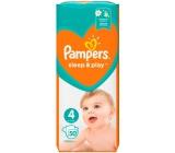 Pampers Sleep & Play 4, 9 - 14 kg plienkové nohavičky 50 kusov