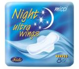Micca Ultra Wings Night intímne vložky s krídelkami 8 kusov