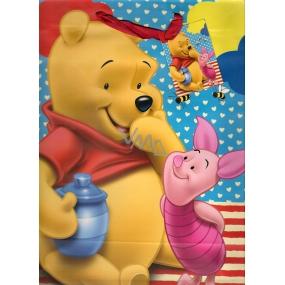 Ditipo Disney Dárková papírová taška pro děti L Medvídek Pú a Prasátko 26,4 x 12 x 32,4 cm