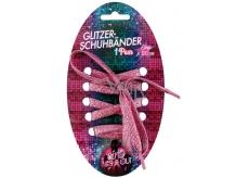 Glittrové šnúrky 120cm ružové