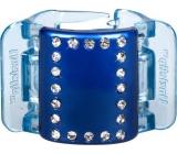 Linziclip Midi Vlasový škripec perleťovo modrý s kryštálikmi 3,5 cm vhodný pre stredne husté a husté vlasy 1 kus