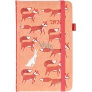 Albi Diár 2020 vreckový s gumičkou Lišku 15 x 9,5 x 1,3 cm