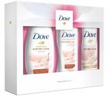 Dove Relaxing Care Winter Care sprchový gél pre ženy 250 ml + telové mlieko 250 ml + dezodorant antiperspirant sprej pre ženy 150 ml, darčeková kazeta
