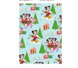 Ditipo Darčekový baliaci papier 70 x 200 cm Vianočný Disney Mickey a Minnie na lanovke svetlo modrý